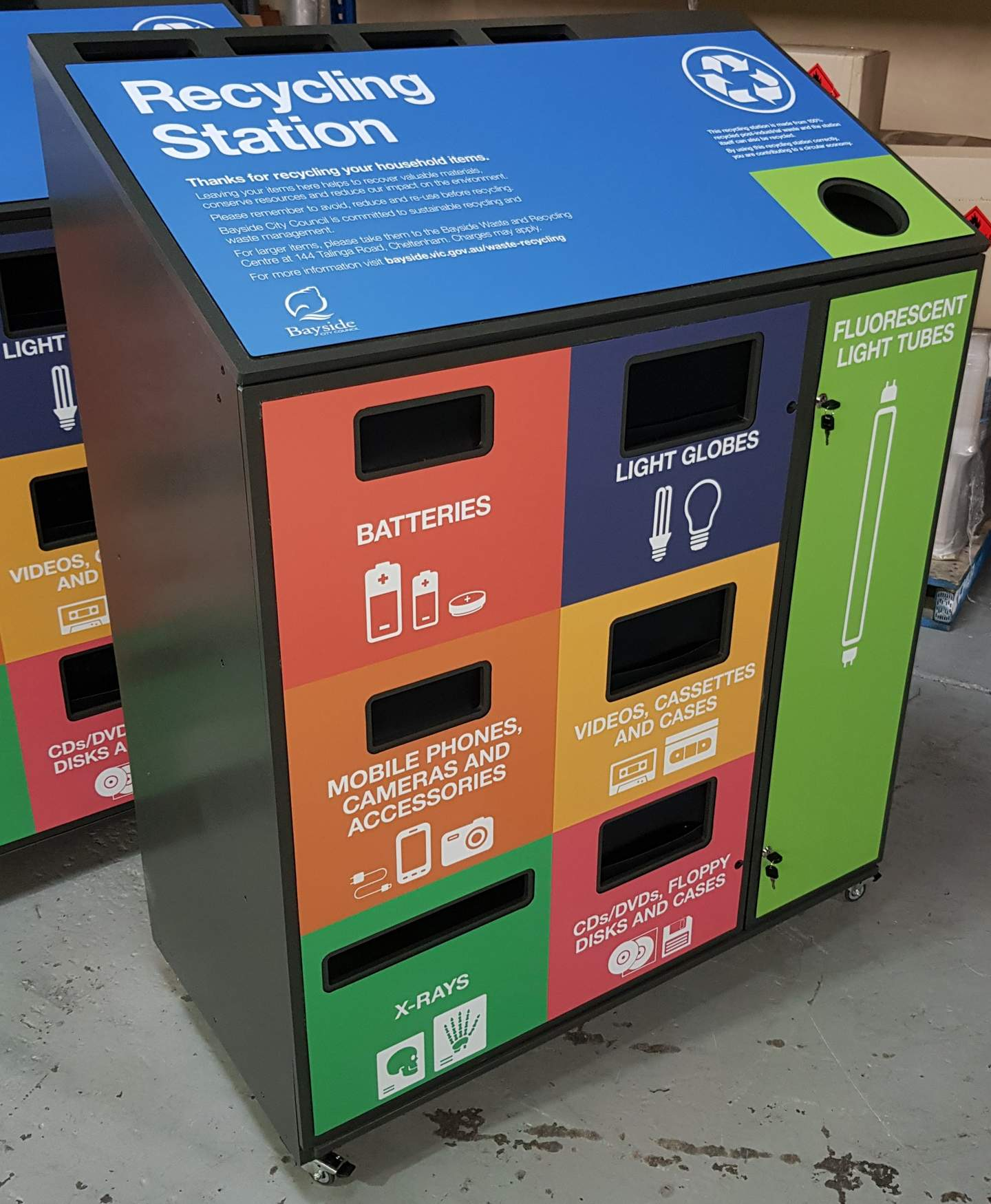 Picture of community recycling station