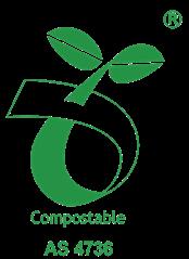 Seedling logo - AS4736 Australian Standard Certified Compostable