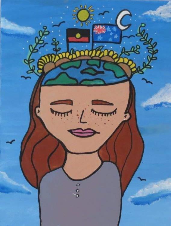 Maggie, Wonderful World in my Mind, described by artist below