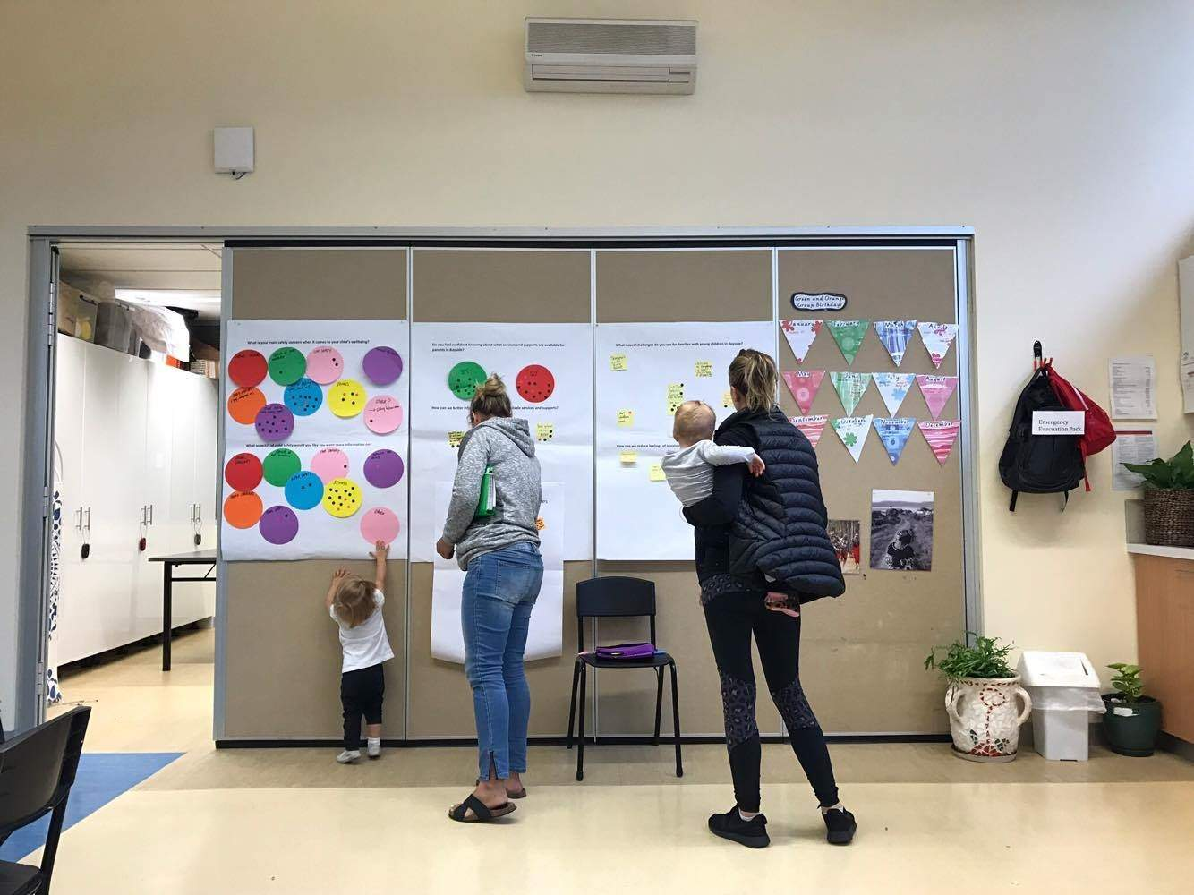 Mums and toddlers attending maternal and Child health information session