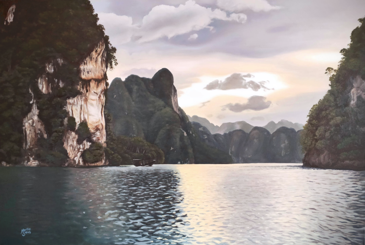 Martha, Peaceful Waters of Thailand, described by artist below.